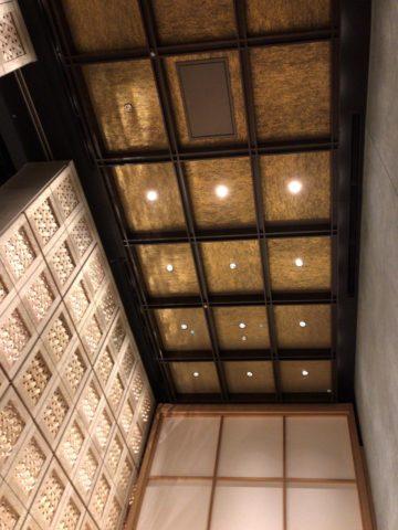 星のや東京 エントランス天井