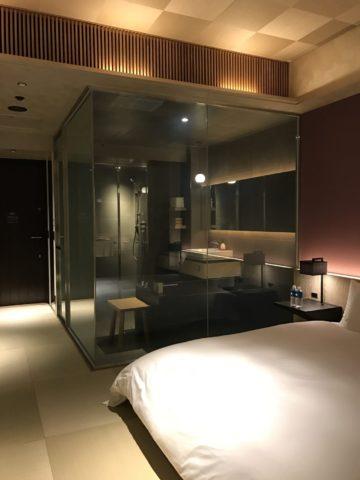 星のや東京 客室から浴室