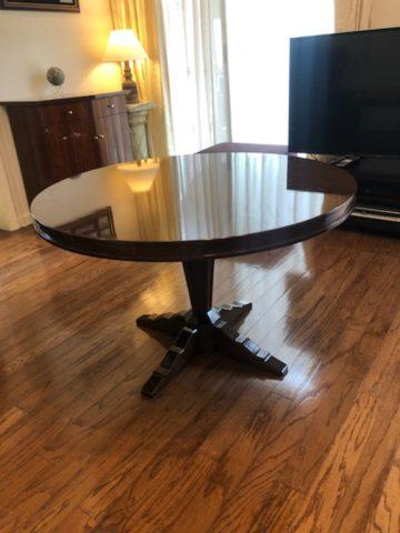 一本脚、丸テーブルオーダーメード